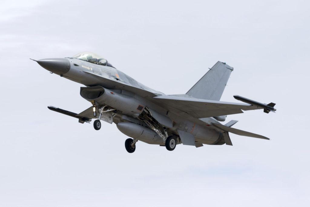 Inspektion med OLYMPUS udstyr til F16 fly