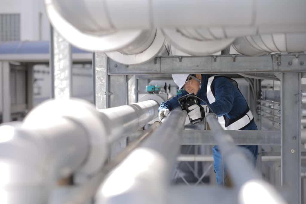 NDT inspektion på rør med OLYMPUS instrumenter