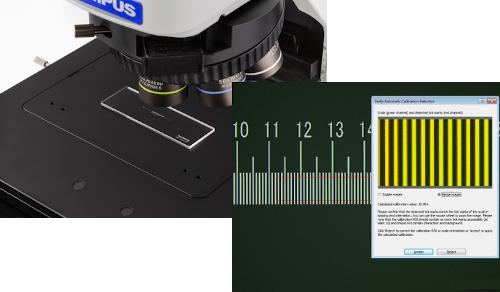 Måling med BX53m mikroskop fra olympus
