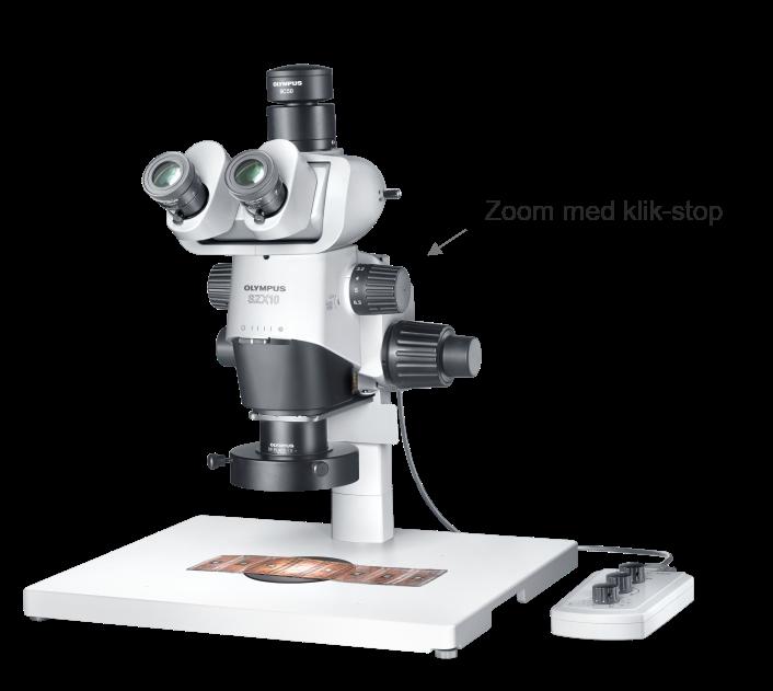 Stereomikroskop med klik-stop zoom